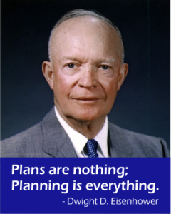 Dwight D. Eisenhower Plans are Nothing